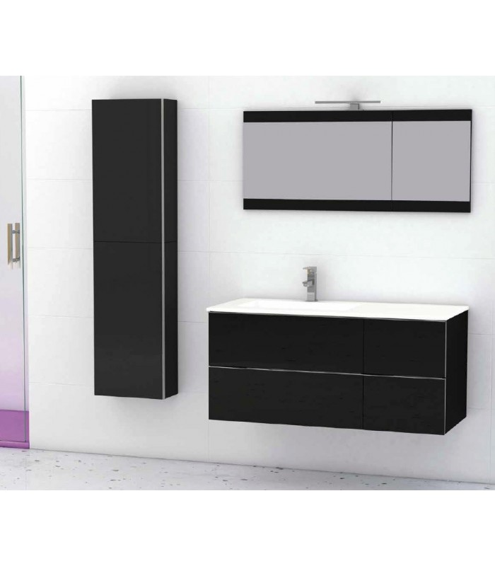 meuble suspendu salle de bain duo 105 banyo. Black Bedroom Furniture Sets. Home Design Ideas