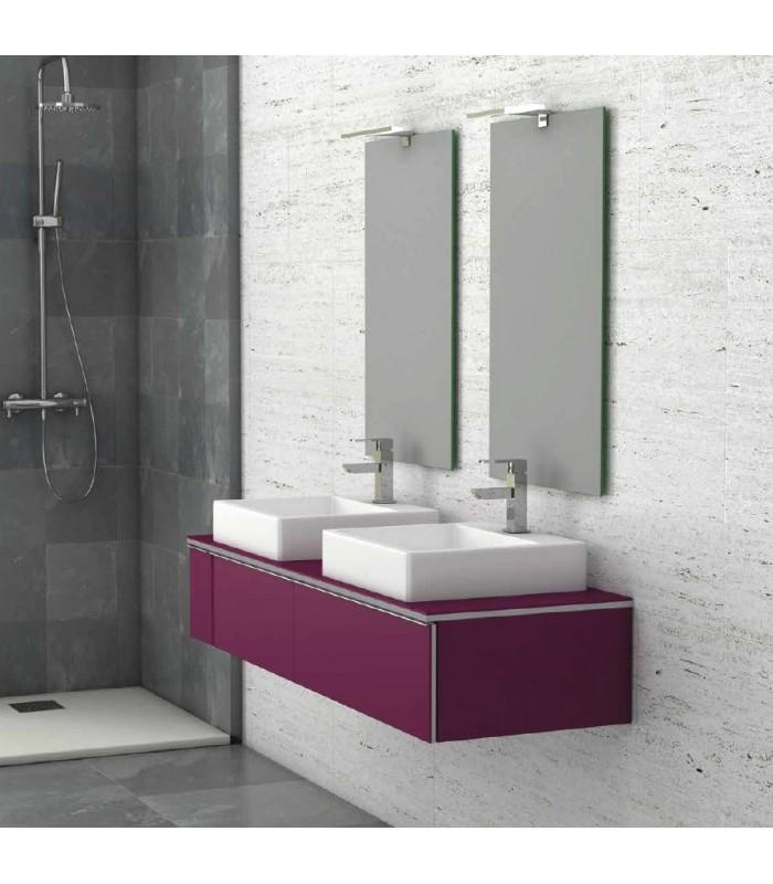 Meuble suspendu salle de bain duo 140 banyo for Meuble sdb suspendu