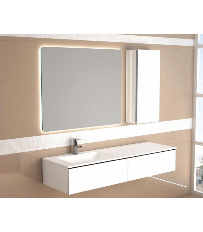 meuble suspendu salle de bain duo 140 banyo. Black Bedroom Furniture Sets. Home Design Ideas