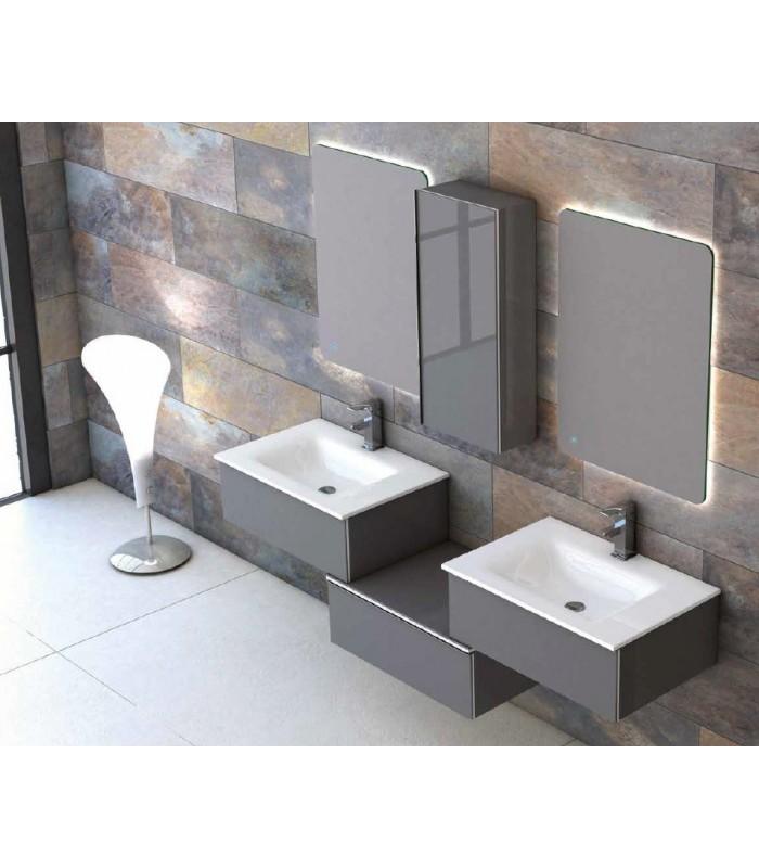 Meuble suspendu salle de bain duo 175 banyo - Meubles salle de bain suspendu ...