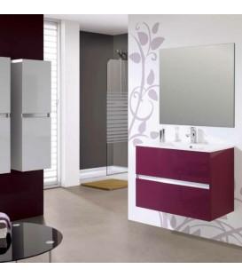 Couleur aubergine salle de bain id es de - Meuble de salle de bain aubergine ...