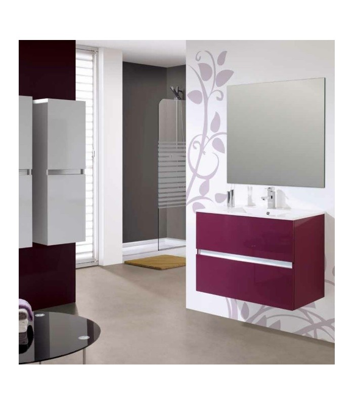 meuble suspendu salle de bain ikaro 80 banyo. Black Bedroom Furniture Sets. Home Design Ideas