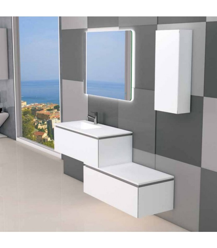 Meuble suspendu salle de bain sigma d cal banyo for Meuble salle de bain suspendu bois