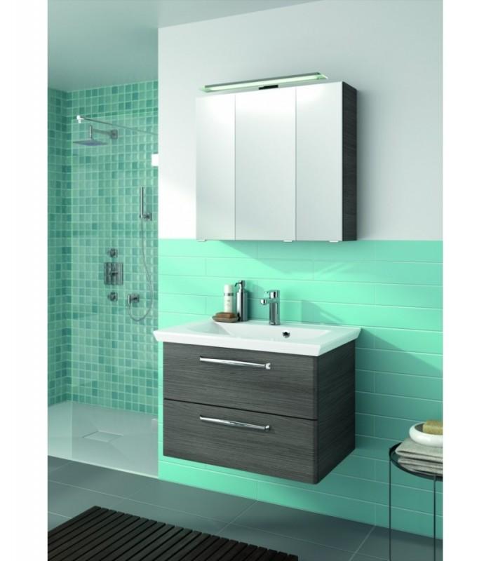 Meuble suspendu salle de bain trentino banyo for Fixation meuble salle de bain suspendu