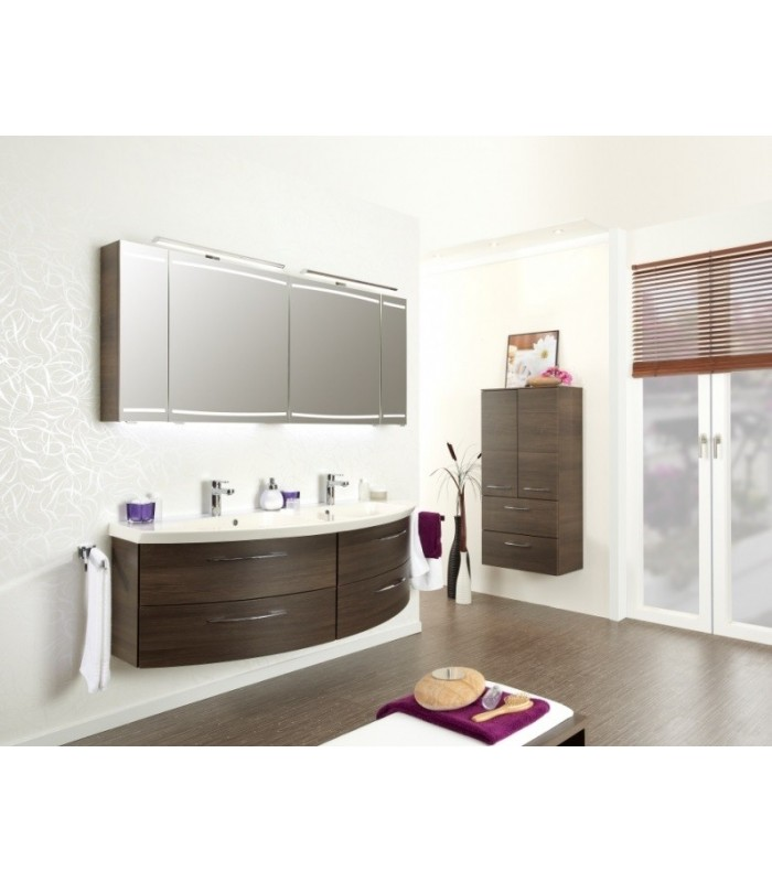 meuble suspendu salle de bain double vasque cassca 153 banyo. Black Bedroom Furniture Sets. Home Design Ideas