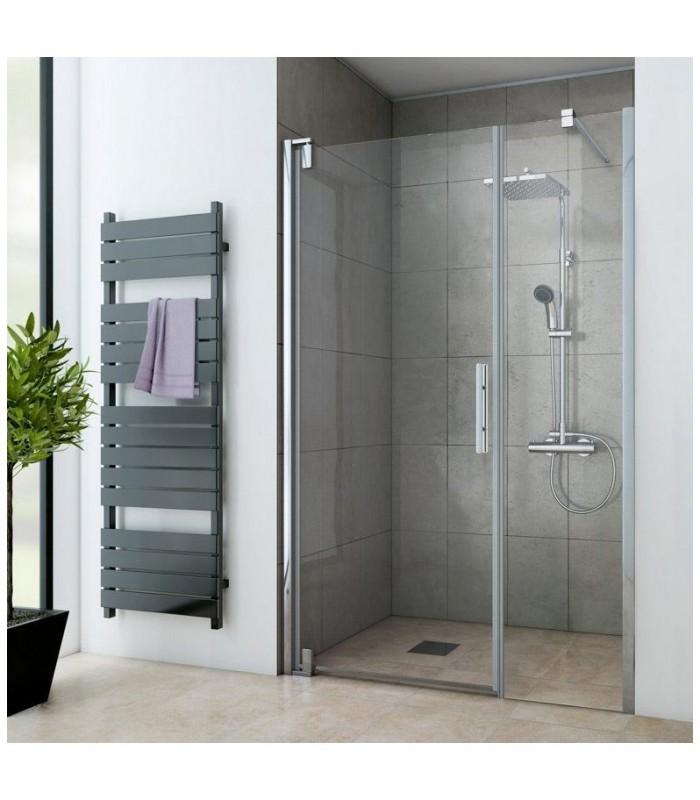 Europa design porte pivotante avec fixe en alignement banyo for Porte de douche avec paroi fixe