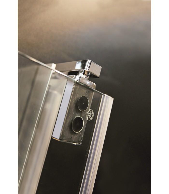 Europa design porte pivotante avec paroi fixe banyo for Porte de douche avec paroi fixe