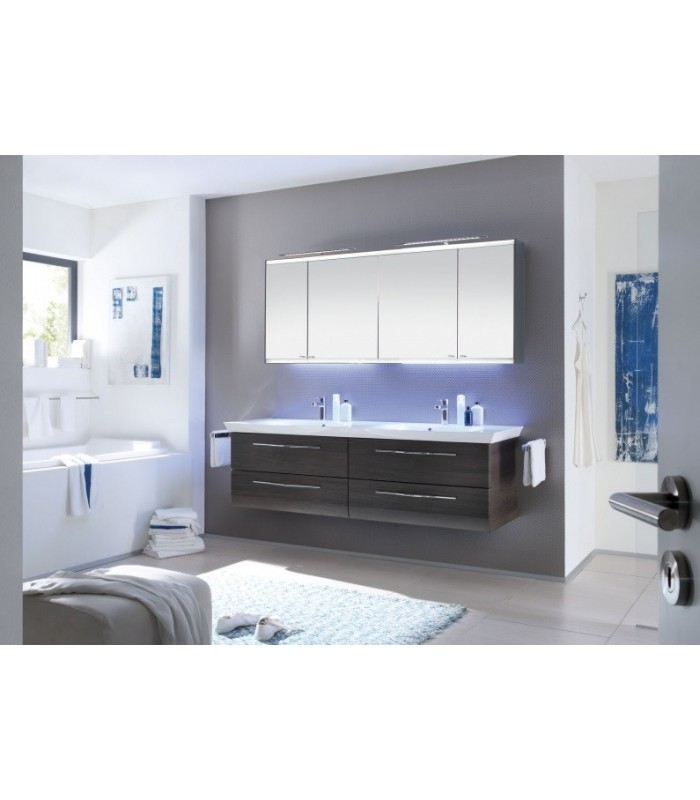 meuble suspendu salle de bain vialo double vasque 184 banyo. Black Bedroom Furniture Sets. Home Design Ideas