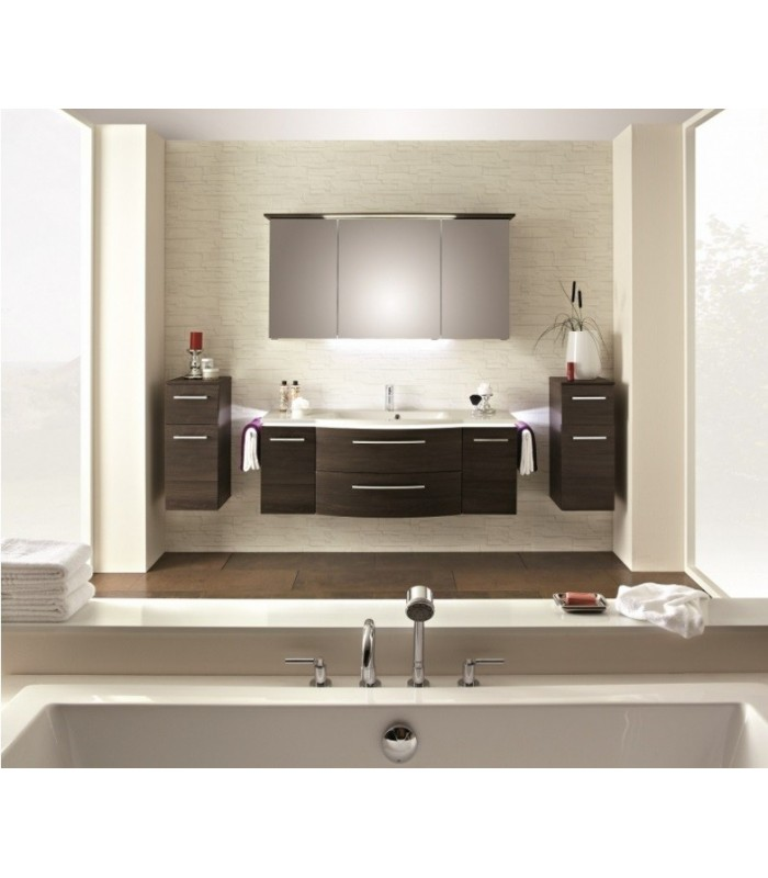 meuble suspendu salle de bain lunic 140 banyo. Black Bedroom Furniture Sets. Home Design Ideas