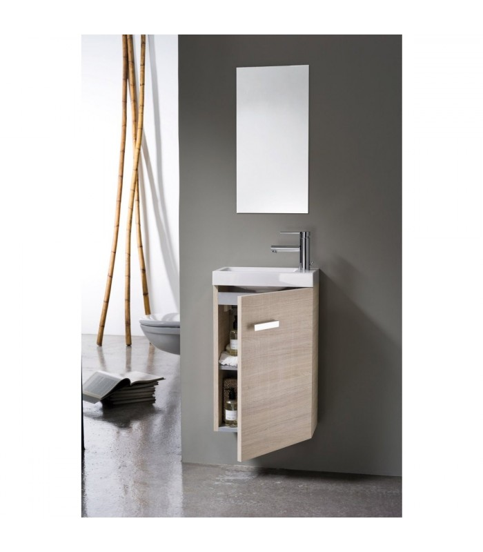 Meuble lave mains woodstock banyo for Lave main meuble