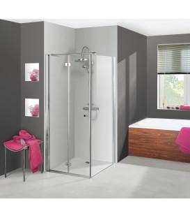 Porte de douche pliante - Porte de douche avec paroi fixe ...
