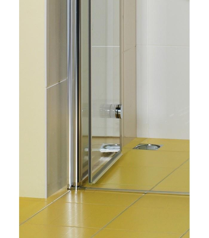 Elana porte pivo pliante avec paroi fixe lat rale banyo for Porte de douche avec paroi fixe