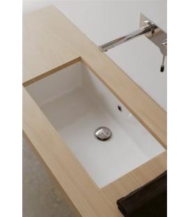 Vasque Miky 80 à encastrer par dessous  pas cher & discount