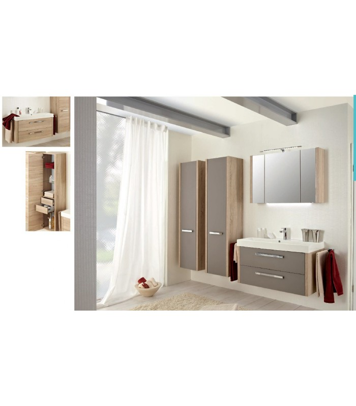 meuble suspendu salle de bain lardo 100 banyo. Black Bedroom Furniture Sets. Home Design Ideas