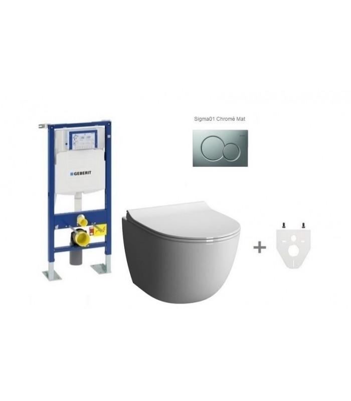 Pack wc suspendu geberit sans bride mod le court banyo - Meilleur wc suspendu ...