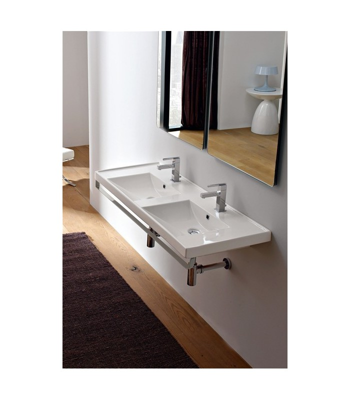 Lavabo double ml 120 banyo for Lavabo double cuisine