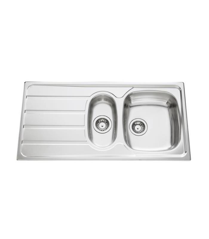 Evier inox montebello avec vide sauce banyo - Vide sanitaire cuisine ...
