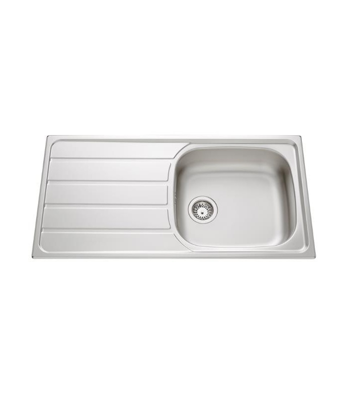 Evier inox montebello avec grand bac banyo for Evier cuisine grand bac