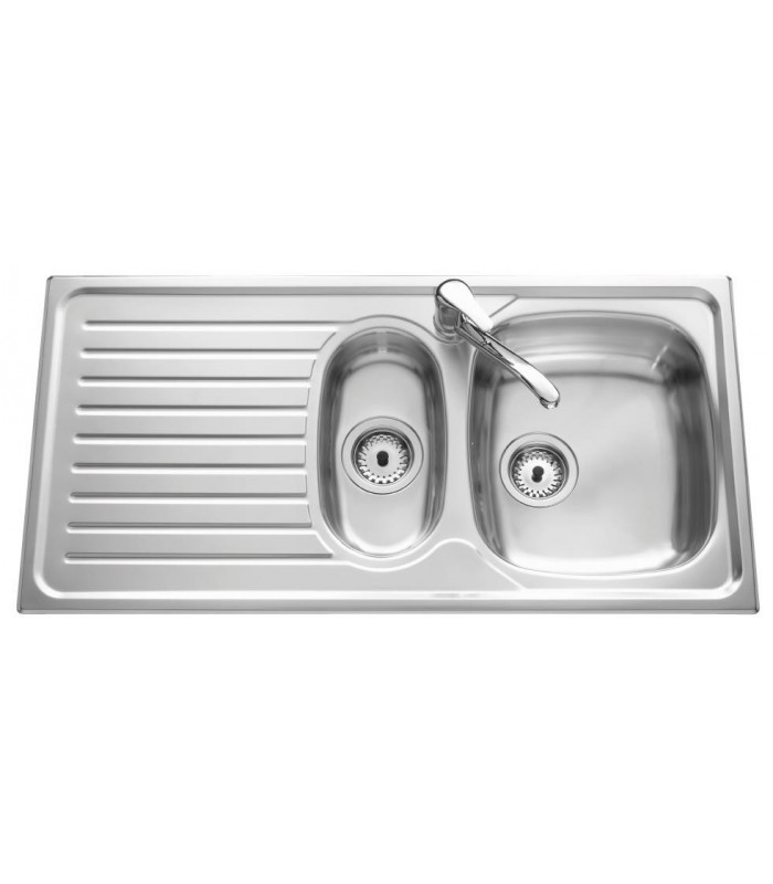 Evier inox siros avec vide sauce banyo for Evier inox solde
