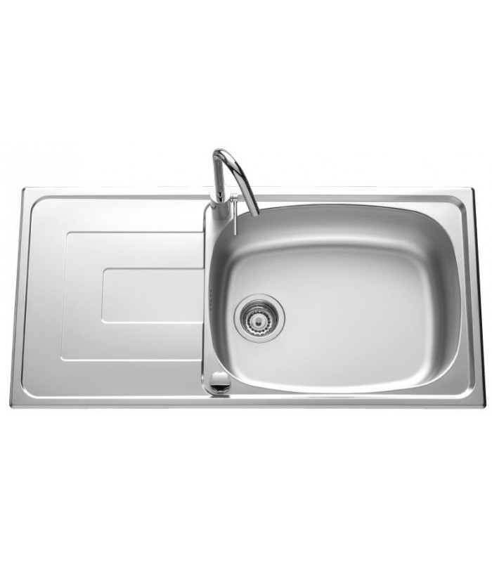 Evier inox portofino grand bac banyo for Grand evier inox