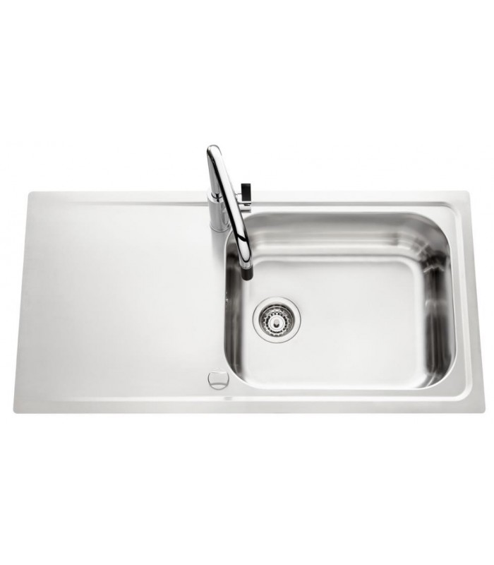 Evier inox stromboli avec un grand bac banyo for Grand evier inox