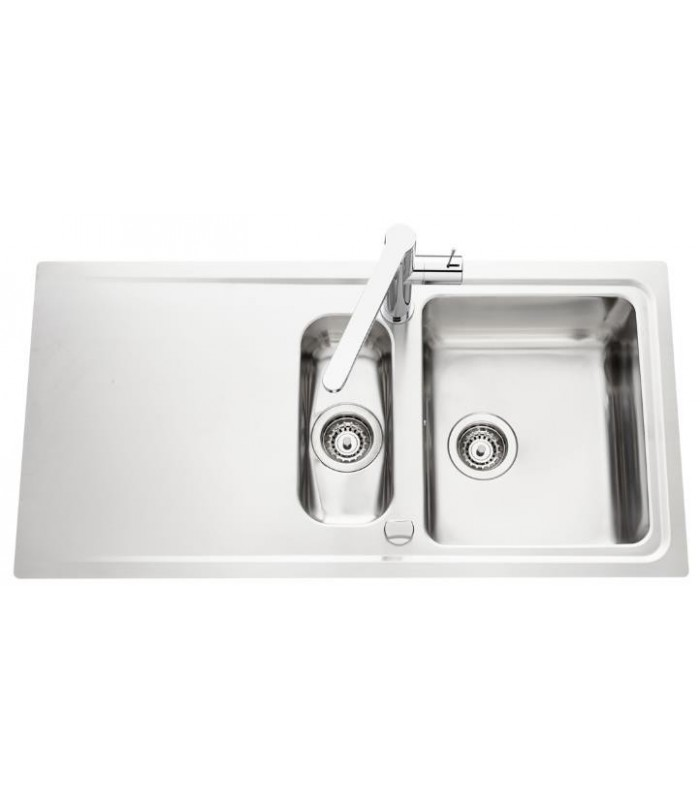 Evier inox stromboli avec vide sauce banyo for Evier inox solde
