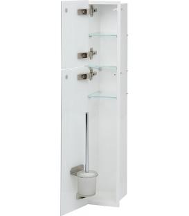 Niche à encastrer en inox pour WC intérieur revêtu par poudre blanc pas cher & discount