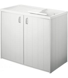 Bac à laver avec meuble 2 portes pas cher & discount