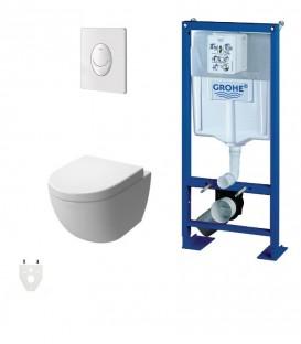 Mobilier de salle de bain equipement et accessoires sanitaires petit prix - Wc suspendu design pas cher ...