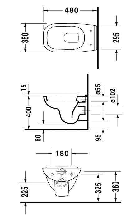 Superb Hauteur Cuvette Wc Suspendu #12: Hauteur Toilette Suspendue ~ Télécharger Fiche Technique Cuvette Suspendue